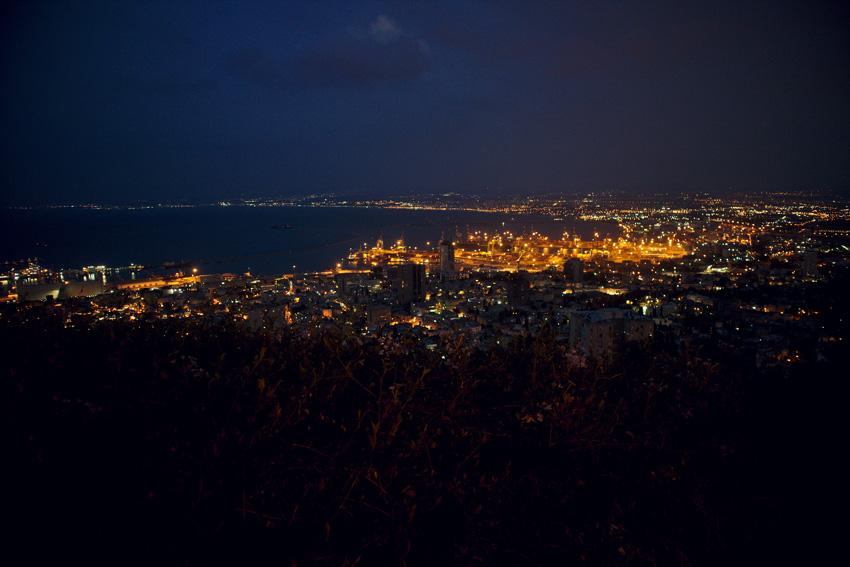 All the wonderful things: Israel Traveldiary #5 - Haifa: Tipps & Fazit; Haifa Hafen bei Nacht