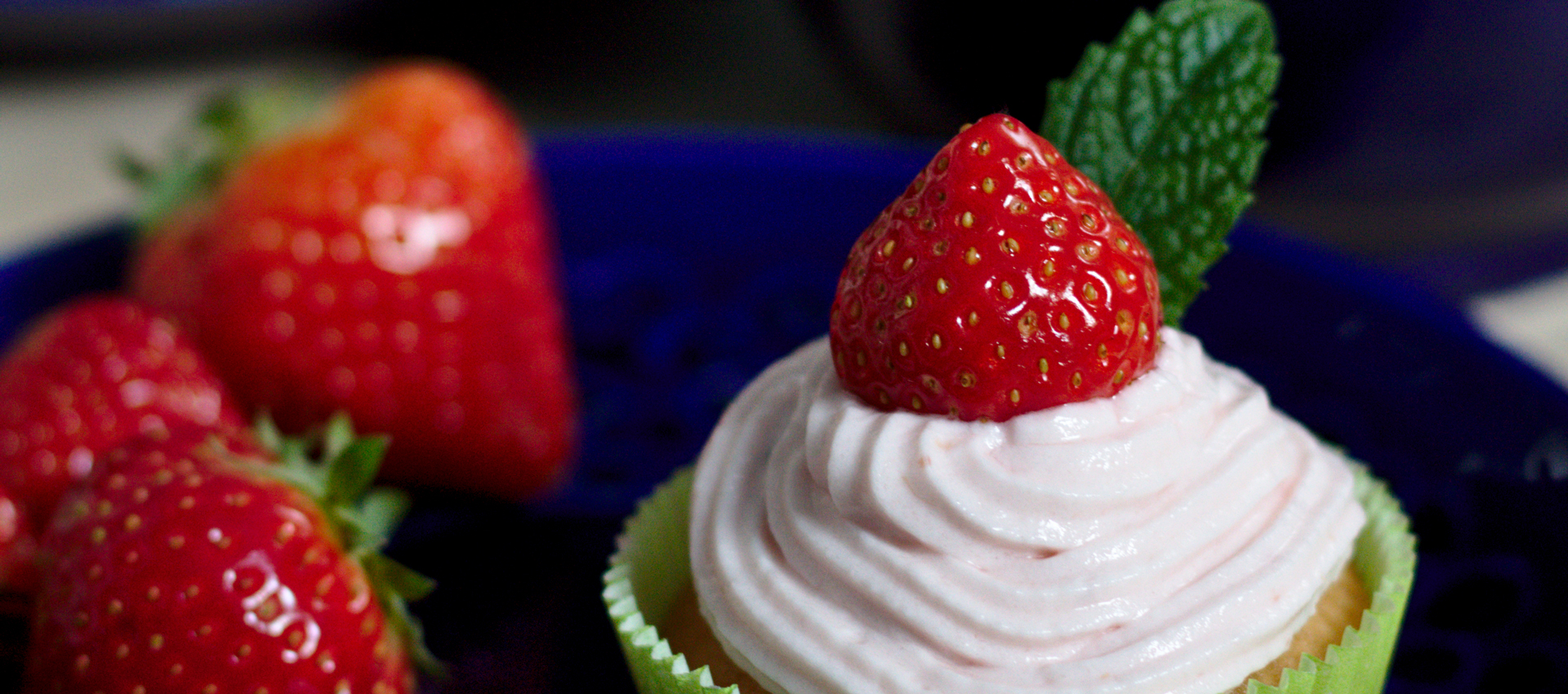 Rezept für Erdbeer-Cupcakes