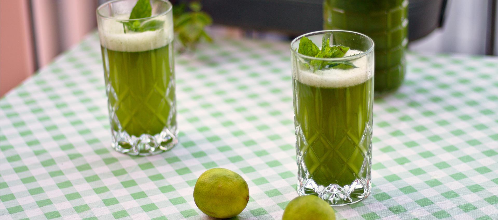 Limetten-Minz-Limonana